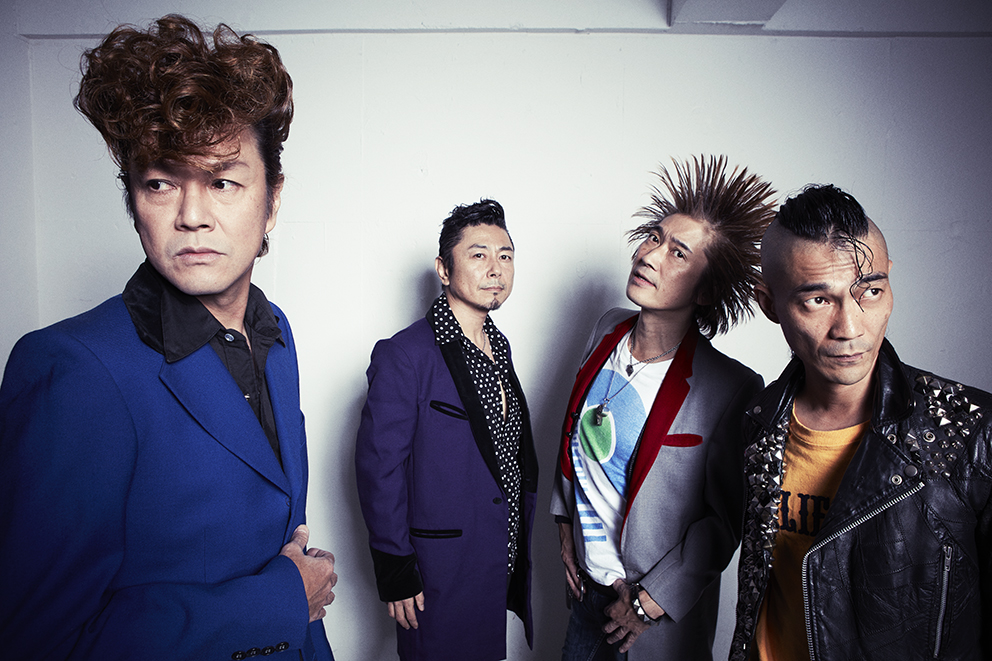 L→R TAISEI(Vo)、KEN(Ba)、NAOKI(Gu)、SHOHEI(Dr)