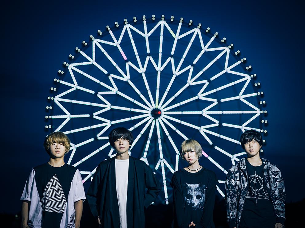 L→R タナカ・ターナ(Gu&Cho)、ドイヒロト(Vo&Gu)、岸波 藍(Dr&Cho)、ココナッツ先輩(Ba&Cho)