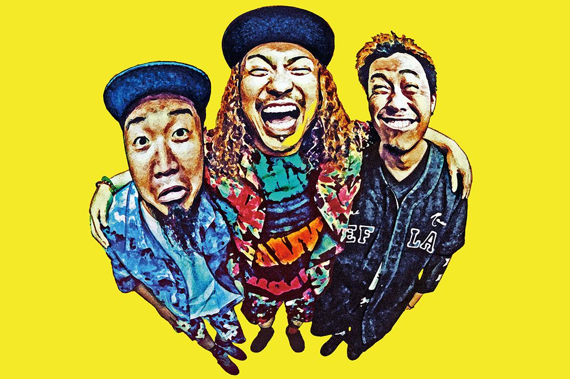 L→R FUJI(Dr&Cho)、KENTA(Vo&Ba)、KO-SHIN(Gu&Cho)