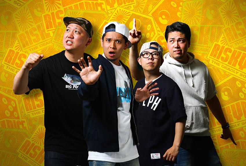 L→R Liberty(Sel)、Miyamo(MC&Sel)、Monk(MC)、Diaba(MG)