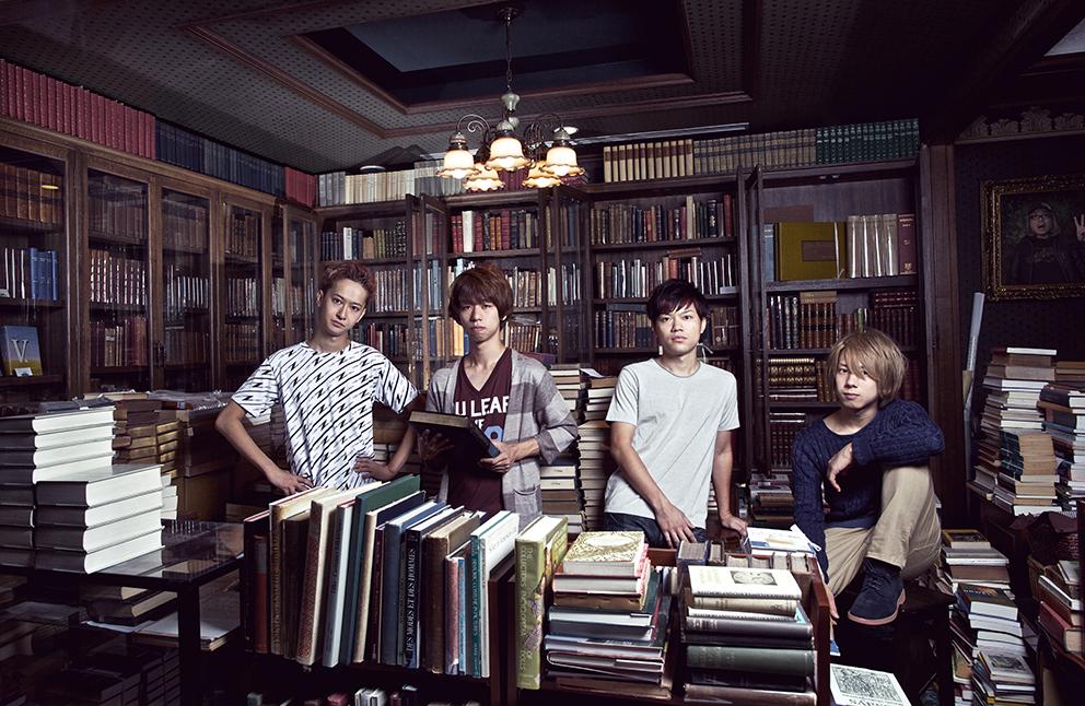 L→R 小野武正(Gu&Cho)、首藤義勝(Vo&Ba)、寺中友将(Vo&Gu)、八木優樹(Dr&Cho)