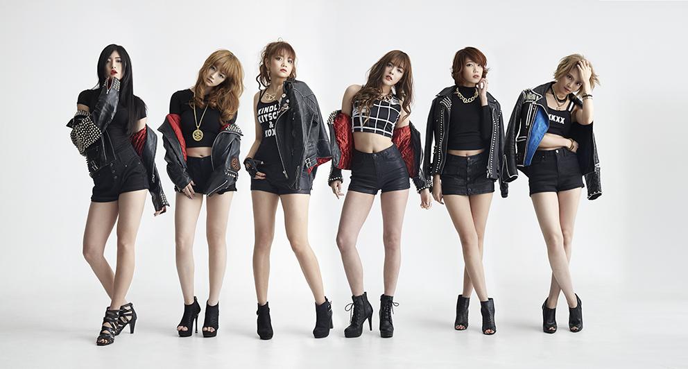 L→R MAKAHA、EILEEN、YUKI、MAO、MARINA、AYAKA