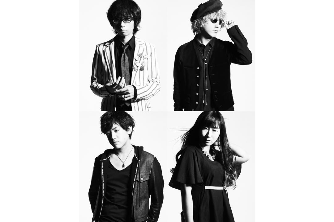 写真左上より時計回り、のび太(Vo&Gu)、山さん(Gu)、彩(Ba)、剛(Dr)