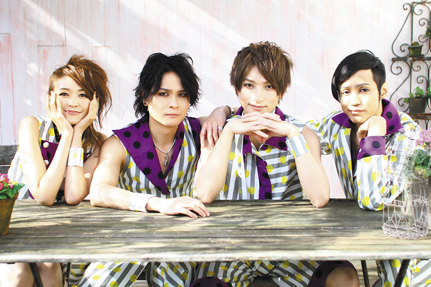 L→R ASUKA(Sax)、Gicchi(Vo)、大智(Vo)、IMAMUN(Ba)