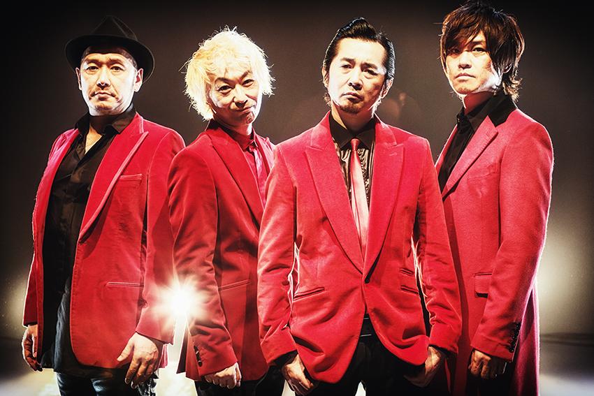 L→R 坂詰克彦(Dr)、清水泰次(Ba)、増子直純(Vo)、上原子友康(Gu)