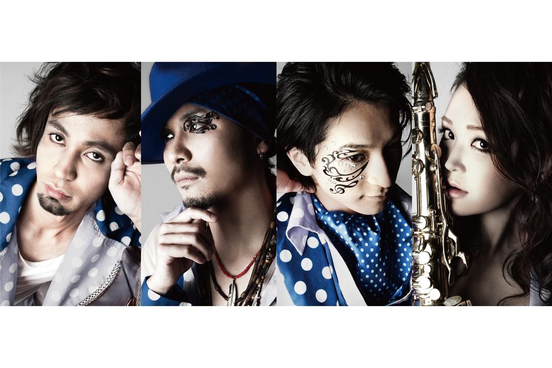 L→R IMAMUN(Ba)、Gicchi(Vo)、大智(Vo)、 ASUKA(Sax)