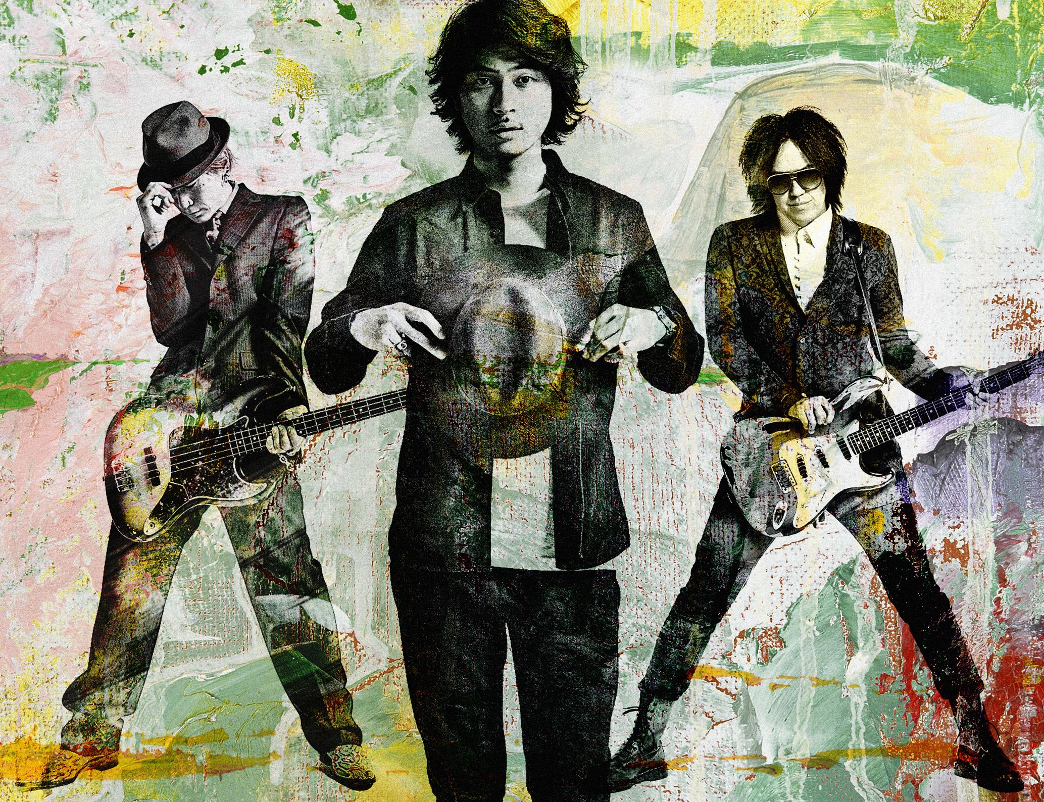 L→R Ju-ken(Ba)、Rueed(Vo)、Ai Ishigaki(Gu)