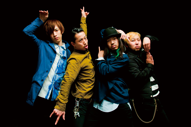 L→R 岸 明平(Gu)、磯村貴宏(Dr)、内田直孝(Vo&Gu)、須藤憲太郎(Ba)