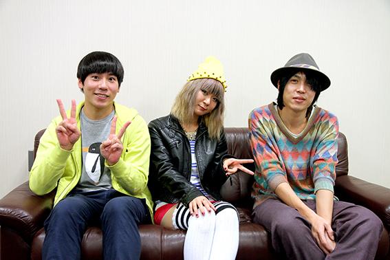 L → R  藤森元生(SAKANAMON)、 Sachiko(FLiP)、 クボ ケンジ(メレンゲ)