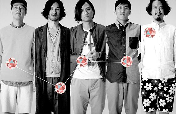 L→R Goi(Key)、Jigen(Ba)、Ko-hey(Vo&Gu)、Negi(Dr)、Ko-ta(Gu&Vo)