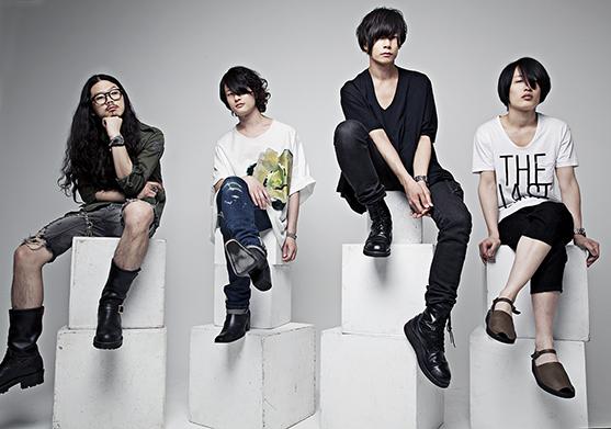 L→R 庄村聡泰(Dr)、磯部寛之(Ba&Cho)、川上洋平 (Vo&Gu)、白井眞輝(Gu&Cho)