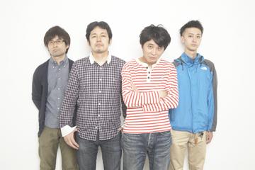L→R 野沢信之(Ba&Cho)、真田太洋(Dr&Cho)、坂木 誠(Vo&Gu)、小野武正(サポートGu/KEYTALK)