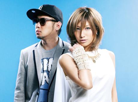 L→R 河井純一a.k.a NAUGHTY BO-Z(Produce&Composer)、片桐舞子(Vo)