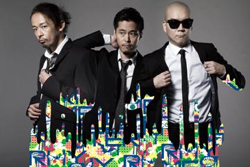 L→R Mummy-D(マボロシ、Mr. Drunk/Rap&Produce)、DJ JIN(breakthrough/DJ&Produce)、宇多丸(Rap)