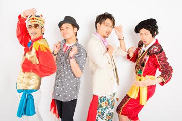 L→R イン・チキータ(Dancer)、トン・ニーノ(Vo)、KMC(Rapper)、ヒロシ・ドット(Side Vo)