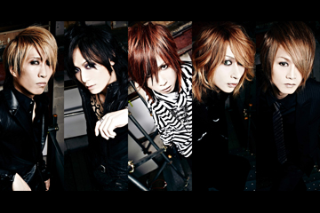 L→R KOHTA(Ba)、ギル(Gu)、キリト(Vo)、Karyu(Gu)、TAKEO(Dr)