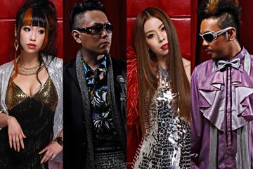 L→R Noa(Vo)、HIRO(MC)、ShaNa(Vo)、GIO(MC)