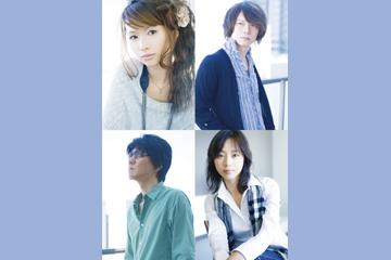 L→R 中村由利(Vo&Songwriting)、古井弘人(Key&Arrange)、岡本仁志(Gu)、AZUKI七(Key&Lyrics)