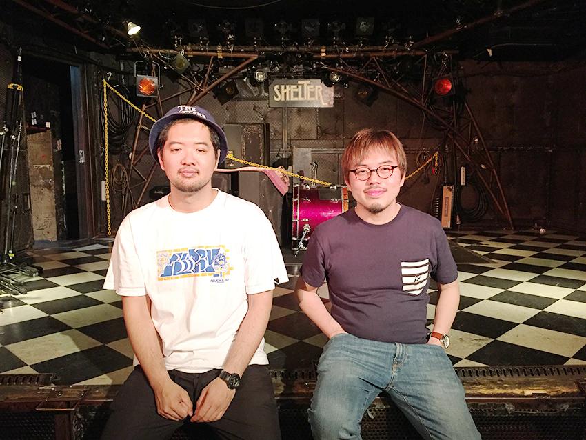 L→R 大橋隼平(新宿SAMURAI 店長)、義村智秋(下北沢SHELTER 店長)