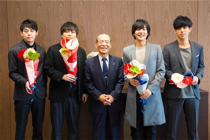 flumpool、近畿大学へ表敬訪問!