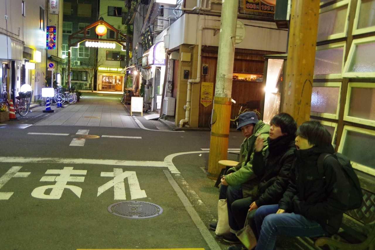 L→R 寺中 四(Ba)、カタミチカラ(Vo&Gu)、サイキタクト(Dr)