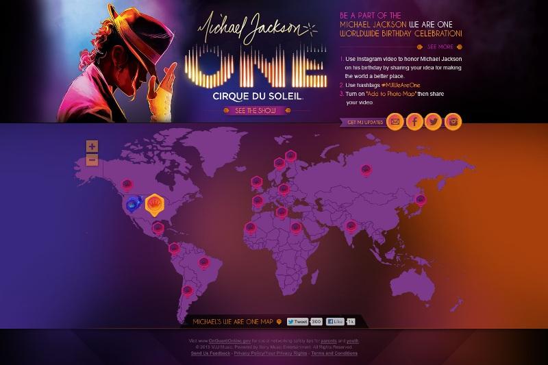 マイケル・ジャクソン バースデイ・セレブレーション We Are One」サイト