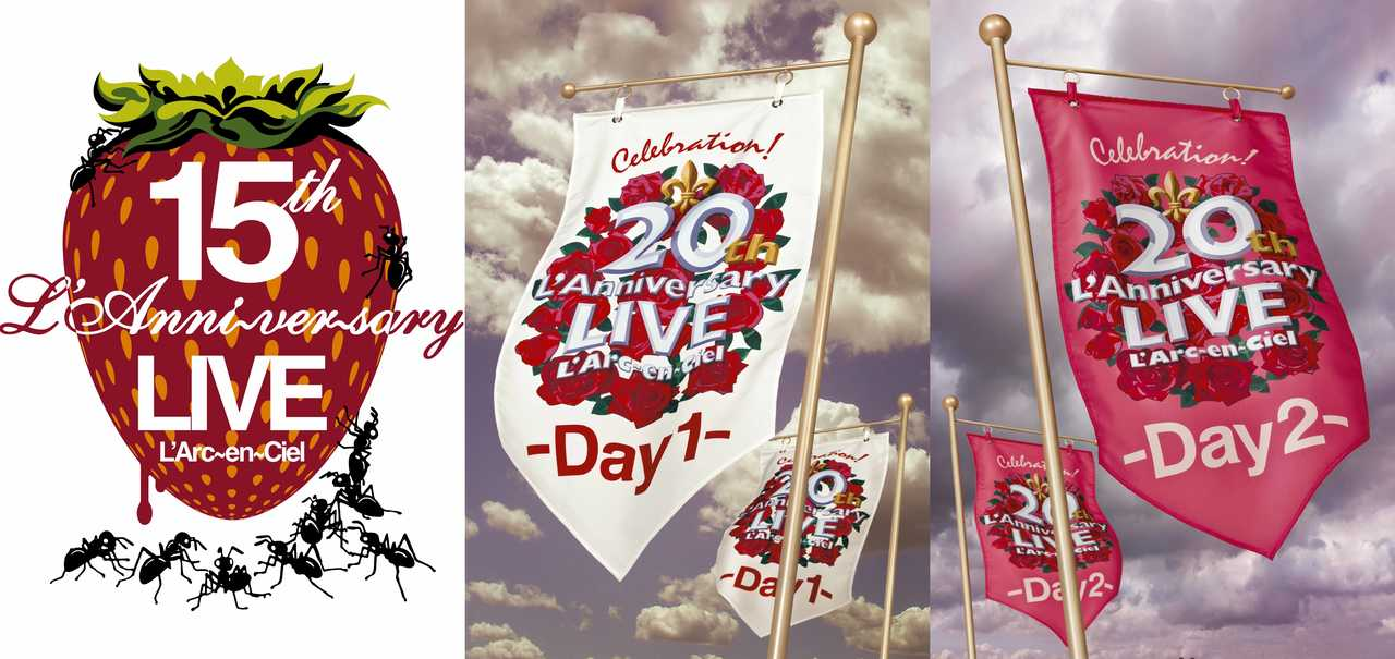 『15th L'AnniversaryLive』『20th L'AnniversaryLIVE -Day1-』『20th L'AnniversaryLIVE -Day2-』