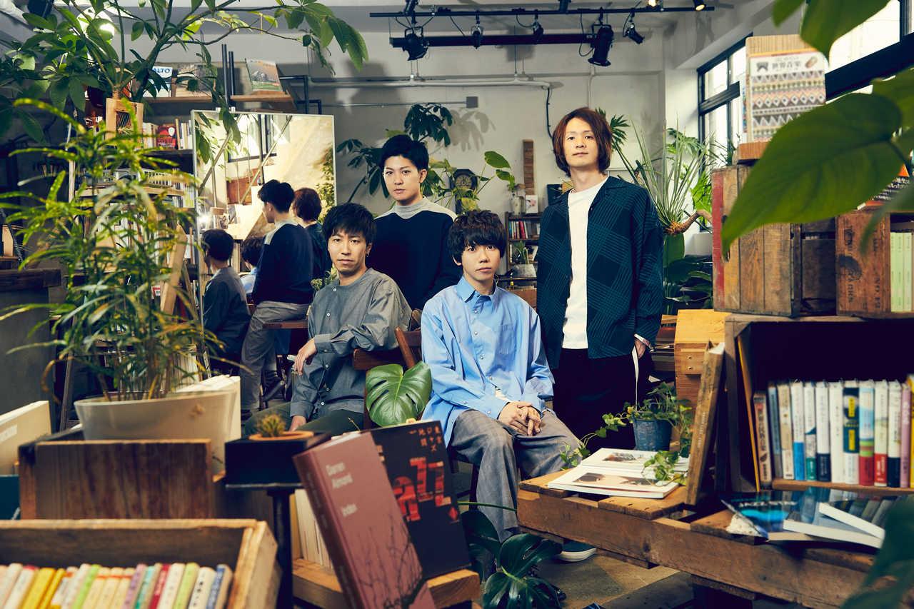L→R 荒井智之(Dr&Cho)、小川貴之(Key&Cho)、片岡健太(Vo&Gu)、黒田隼之介(Gu&Cho)