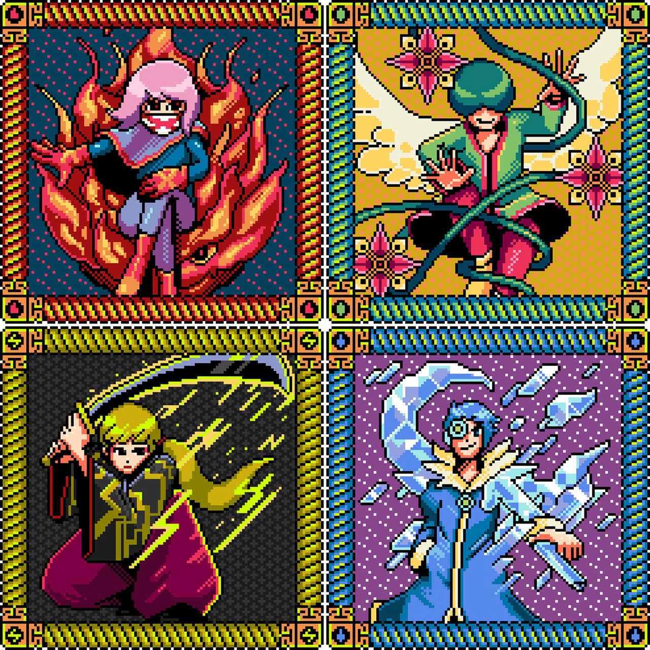 写真左上より時計回り、火寺バジル(Vo)、gari(VJ&Vo)、ウイ・ビトン(Gu)、明治(Gu)