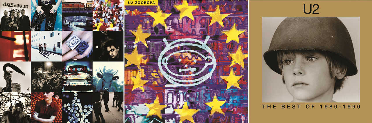 『Achtung Baby』『Zooropa』『The Best Of 1980 - 1990』