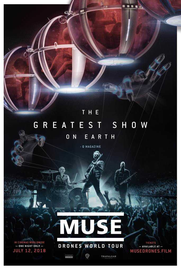 『MUSE DRONES WORLD TOUR』ポスター