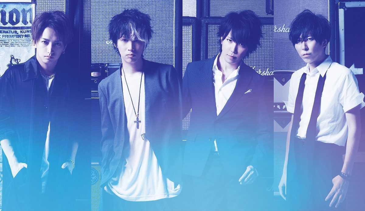 L→R 明希(Ba)、ゆうや(Dr)、マオ(Vo)、Shinji(Gu)