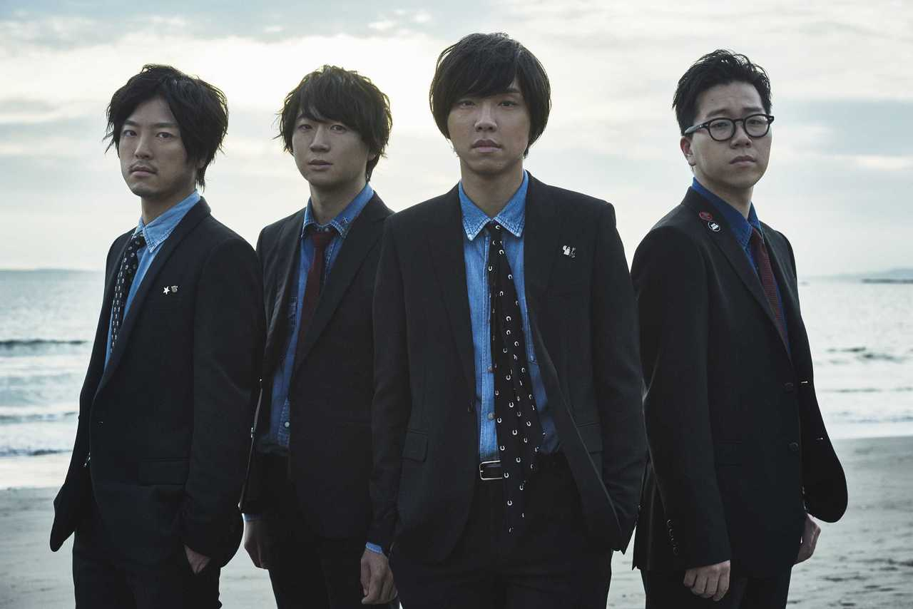 L→R 伊藤彬彦(Dr)、佐藤拓也(Gu&Key)、内澤崇仁(Vo&Gu)、前田恭介(Ba)