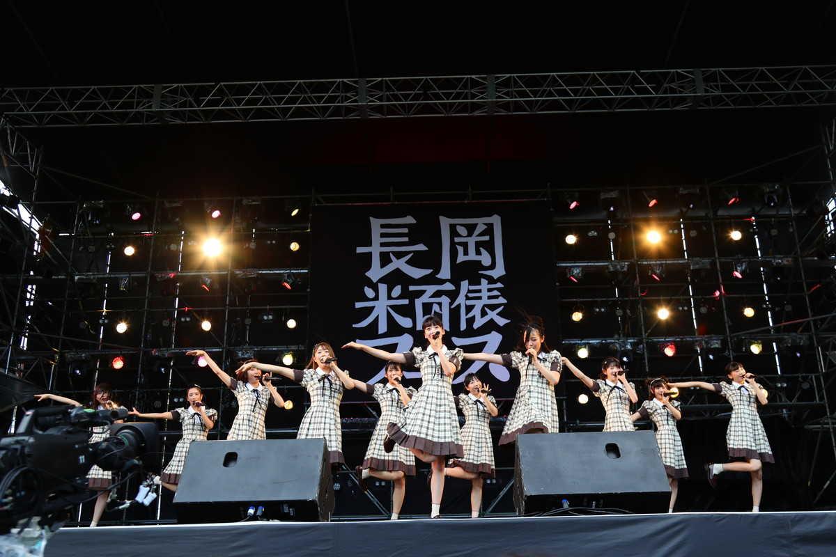 10月6日『長岡 米百俵フェス ~花火と食と音楽と~ 2018』(NGT48)