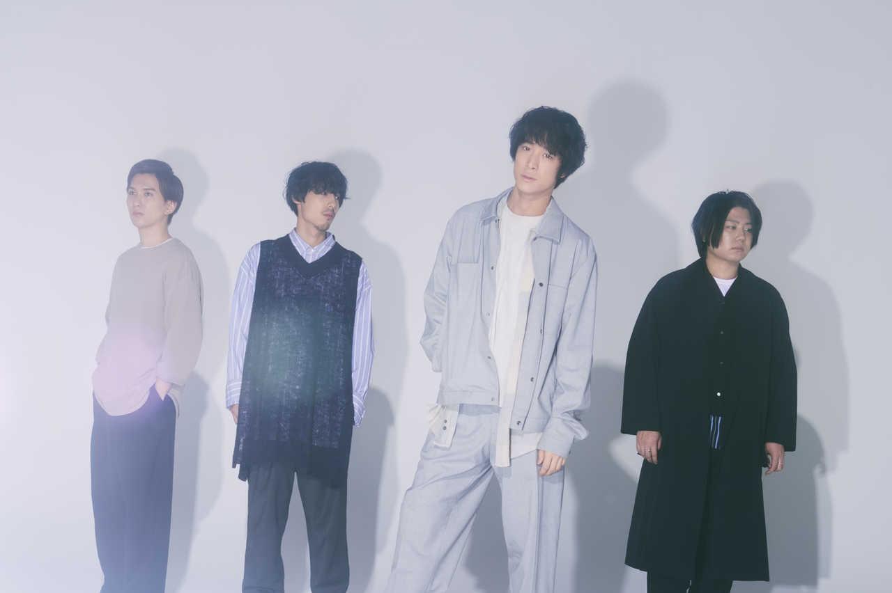L→R 木村雅人(Dr)、広瀬臣吾(Ba)、井上竜馬(Key&Vo)、服部栞汰(Gu)