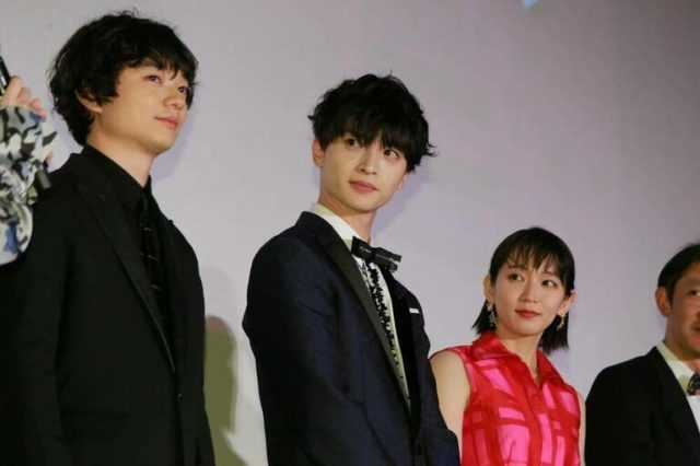 (左から)染谷将太、玉森裕太、吉岡里帆