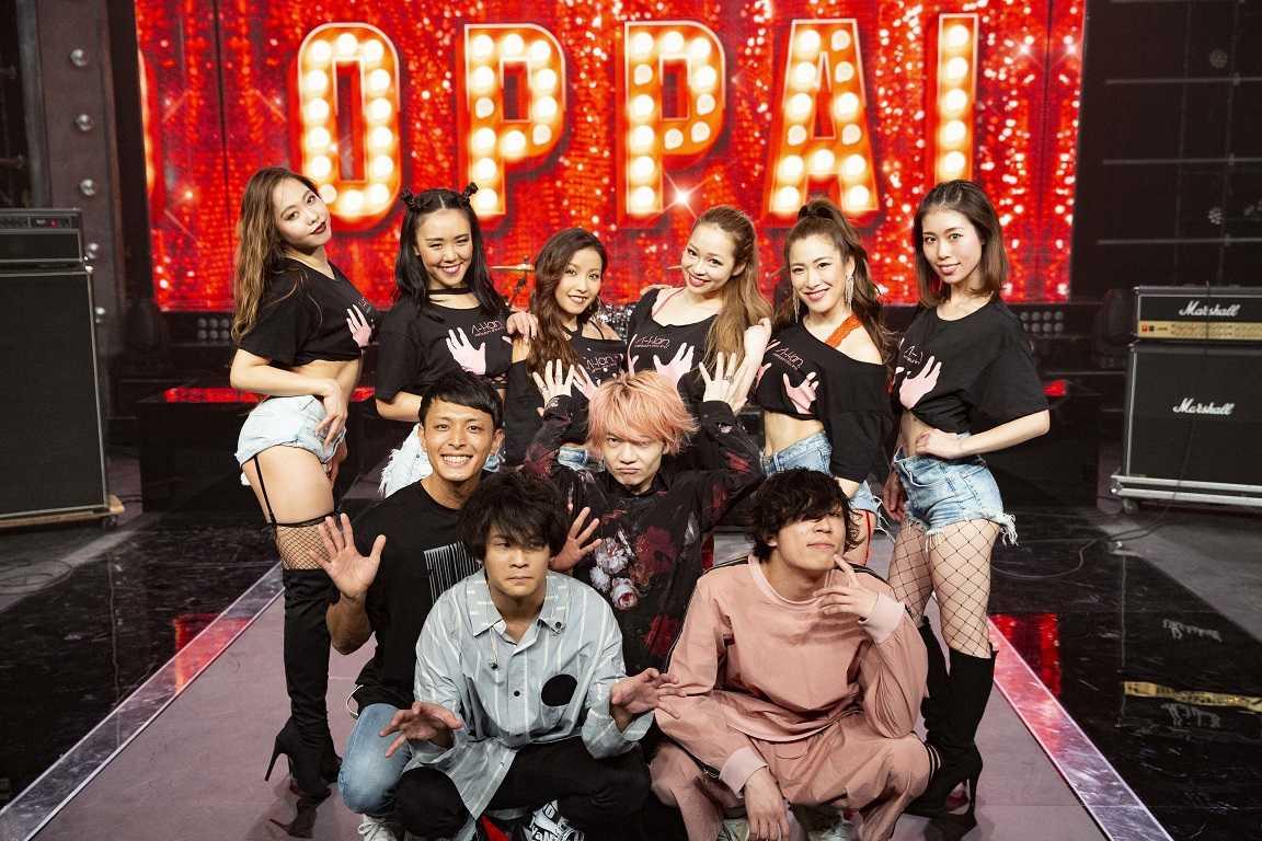 感覚ピエロ、地上波初となるライブさながらのセクシーダンサー引き連れてのO・P・P・A・I歌唱!