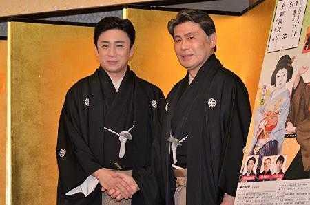 (左から)松本幸四郎、松本白鸚