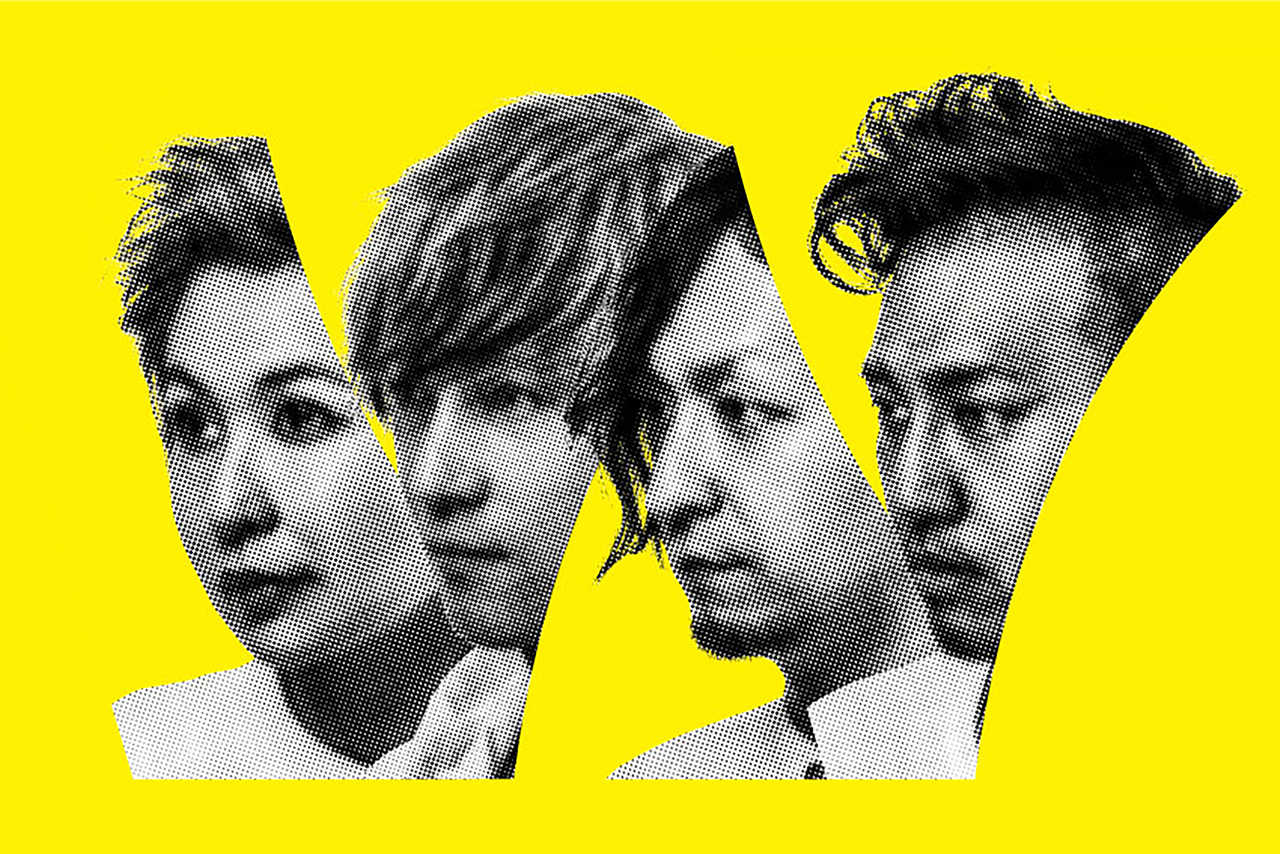 L→R 竹下麻衣子(Vo&Pf.)、猪野進一(Ba&Cho)、加藤智之(Gu&Cho)、山田祐大(Dr)