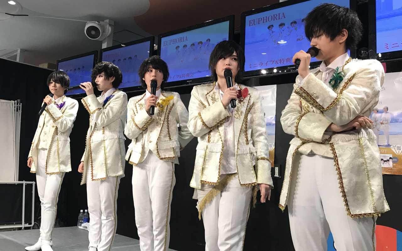 王子様系男装ユニットEUPHORIA、メジャーデビューで歓喜の涙