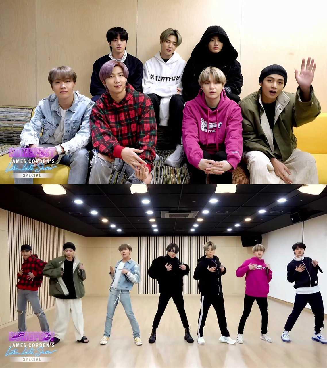 BTS、COVID-19特番米'ジェームスコーデンショー'出演「Boy With Luv」熱唱