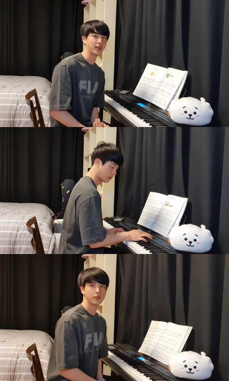 """BTS JIN、YouTubeライブで  """"新しいアルバムのデザインに参加してみようと考え中"""""""