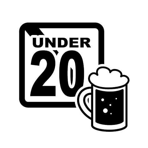 画像:「未成年の飲酒禁止」シルエットAC提供