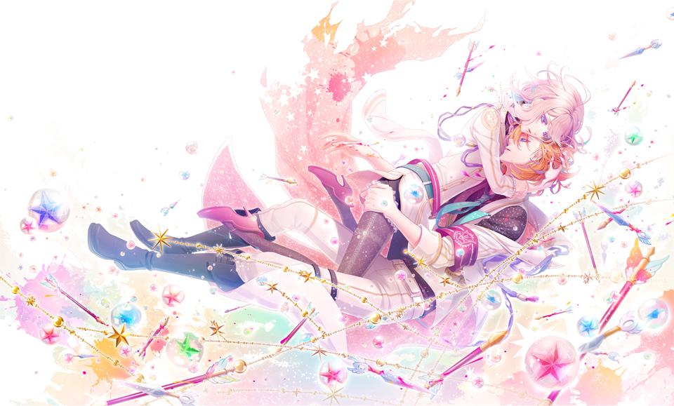 恋愛アドベンチャーゲーム「BinaryStar」通常盤ジャケット(見開き)