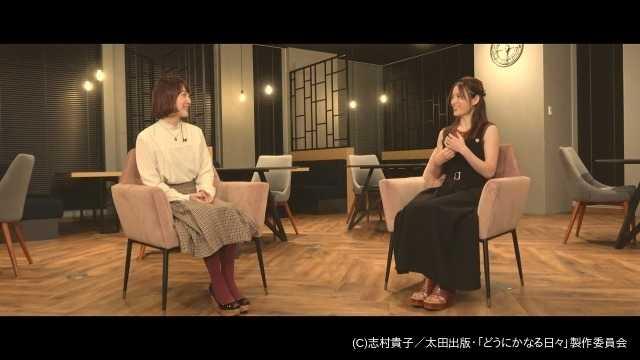 花澤香菜&小松未可子の対談写真