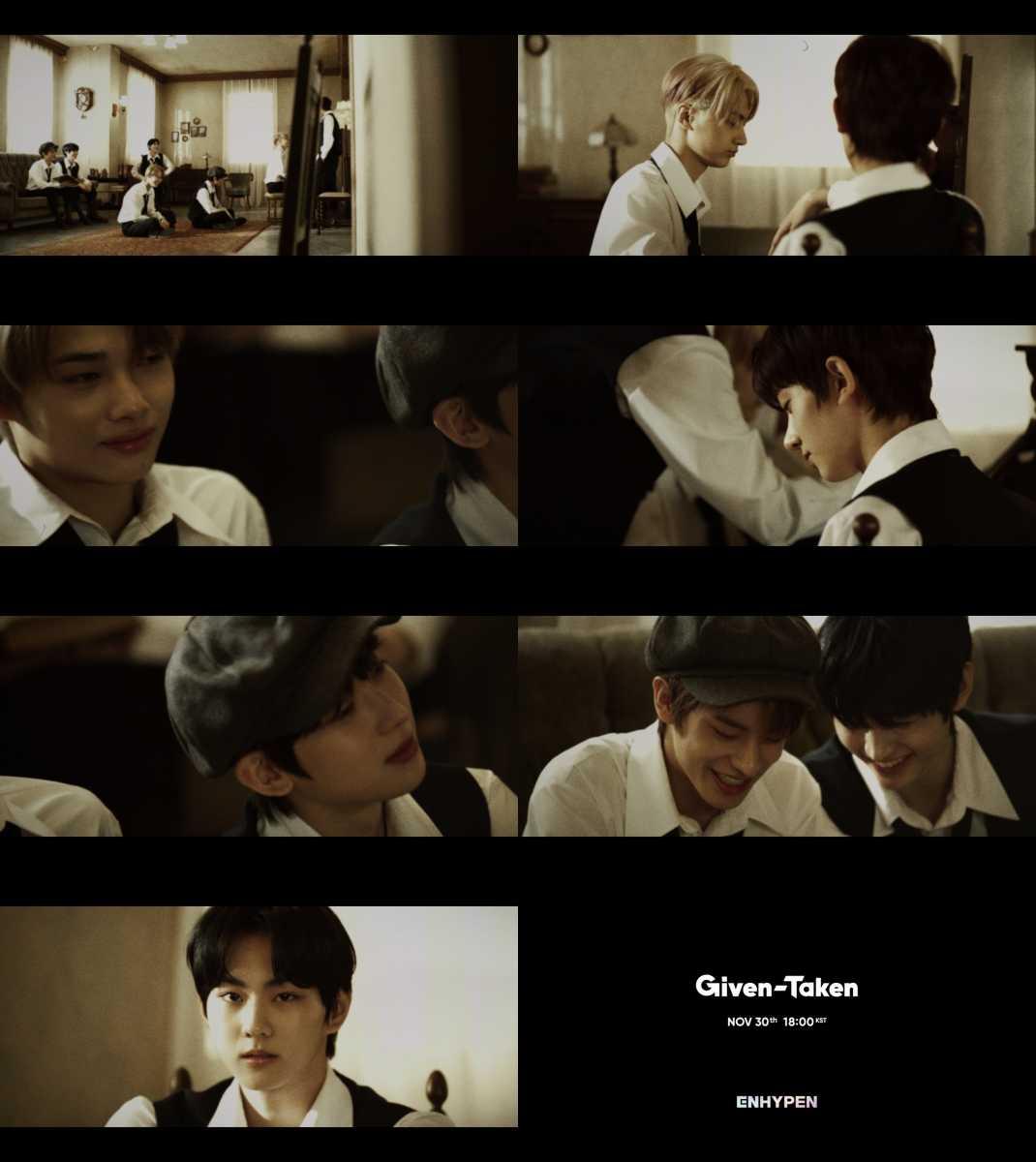 ENHYPEN、デビューリード曲「Given-Taken」ミステリアスな1stオフィシャルティーザー公開!