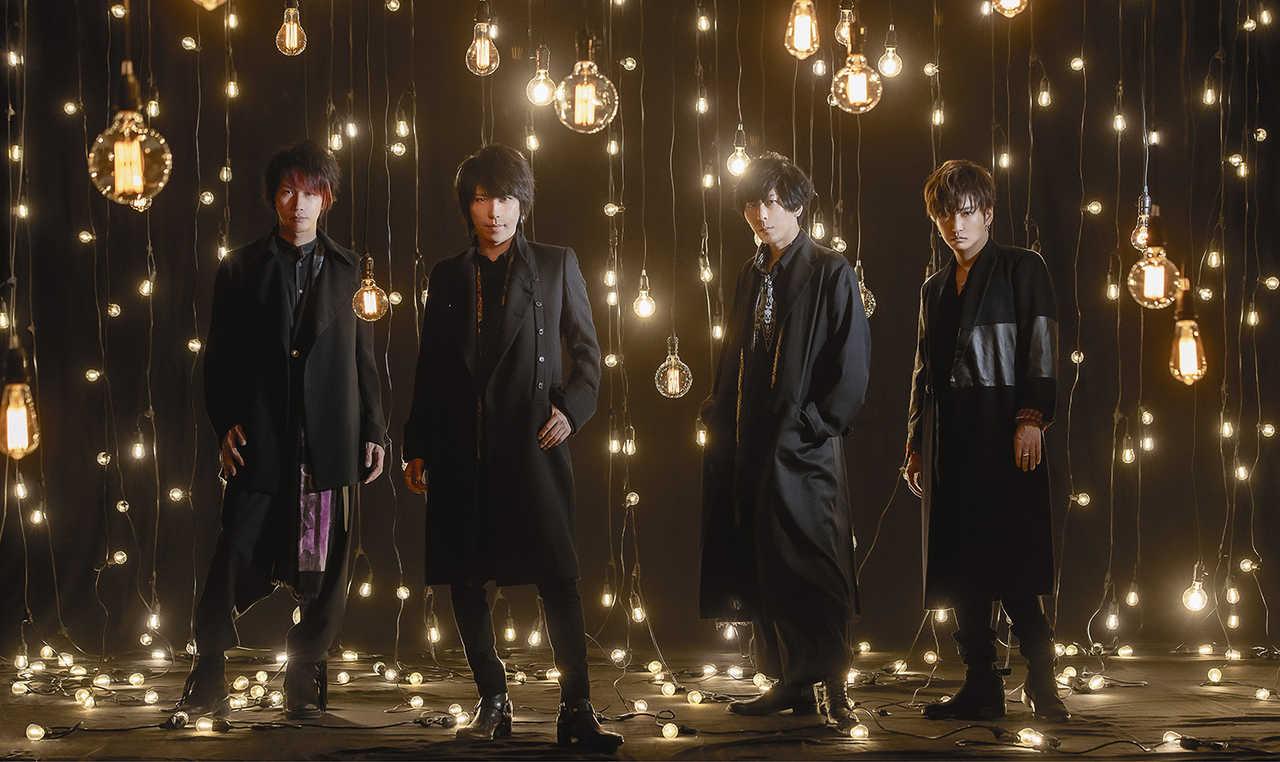 L→R ゆうや(Dr)マオ(Vo)、Shinji(Gu)、明希(Ba)、