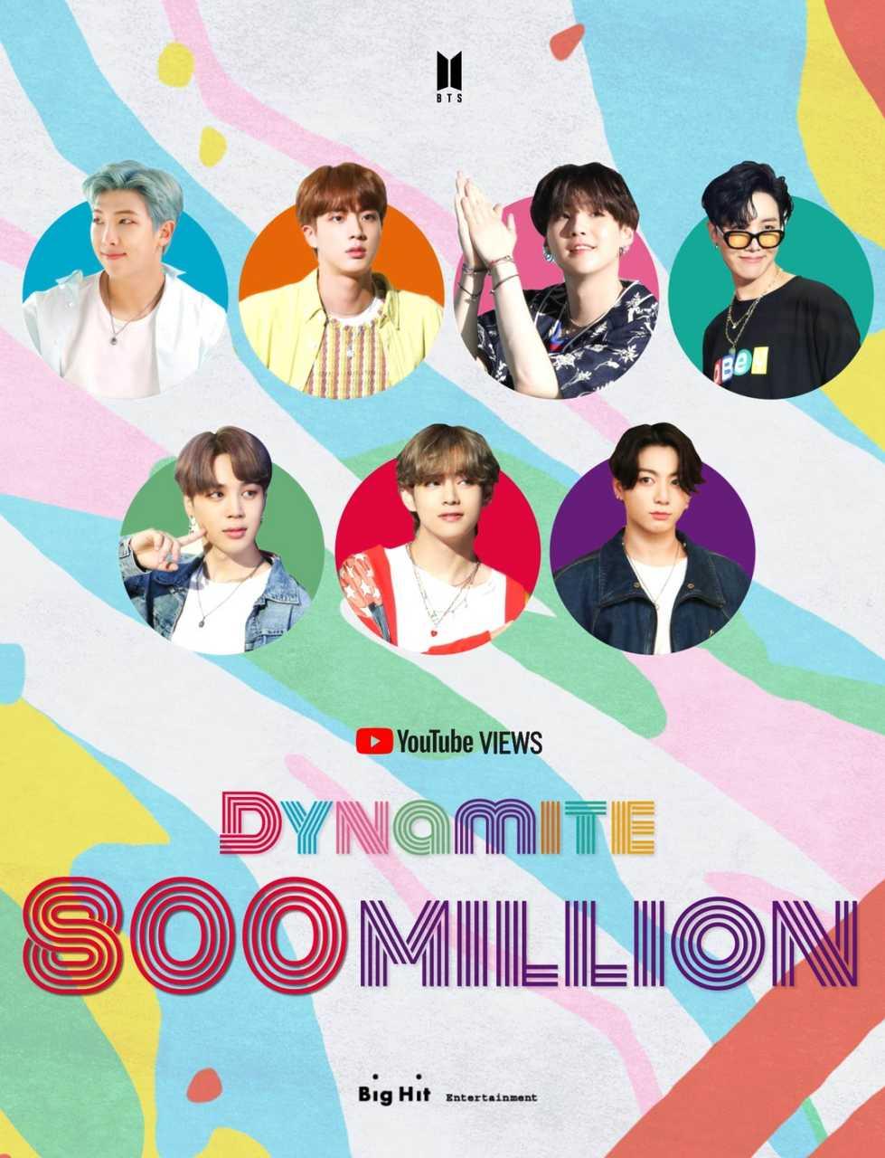 BTS「Dynamite」MV、8億ビュー突破!通算6回目の8億ビューMV!!