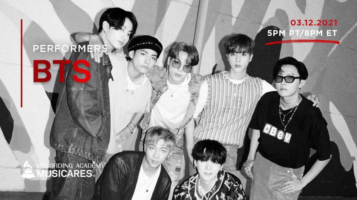 BTS「2021グラミー賞」週間開催オンラインチャリティ公演「Music On A Mission」に出演!