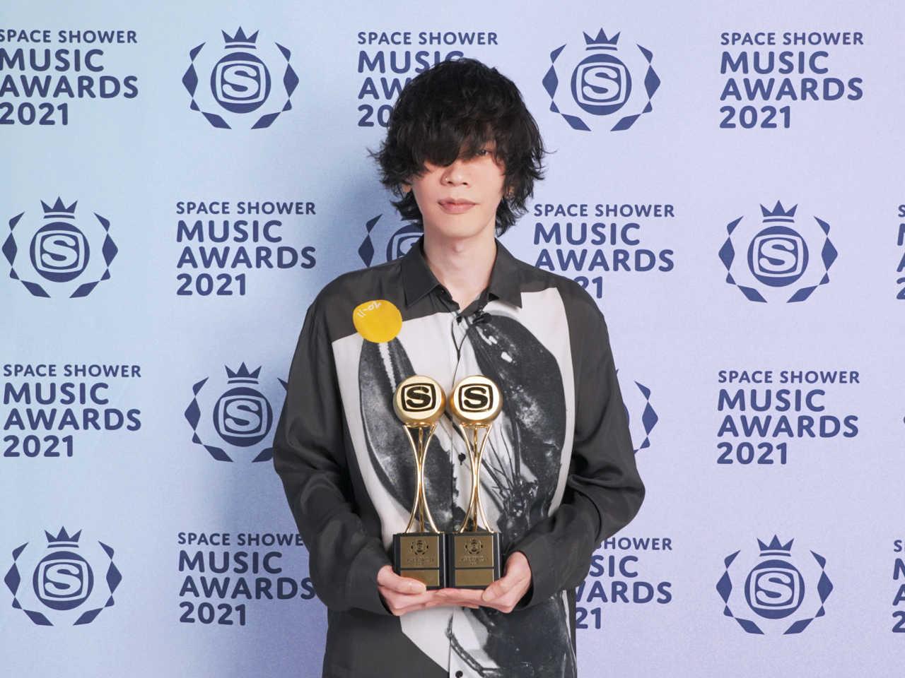 米津玄師「SPACE SHOWER MUSIC AWARDS 2021」2部門受賞!